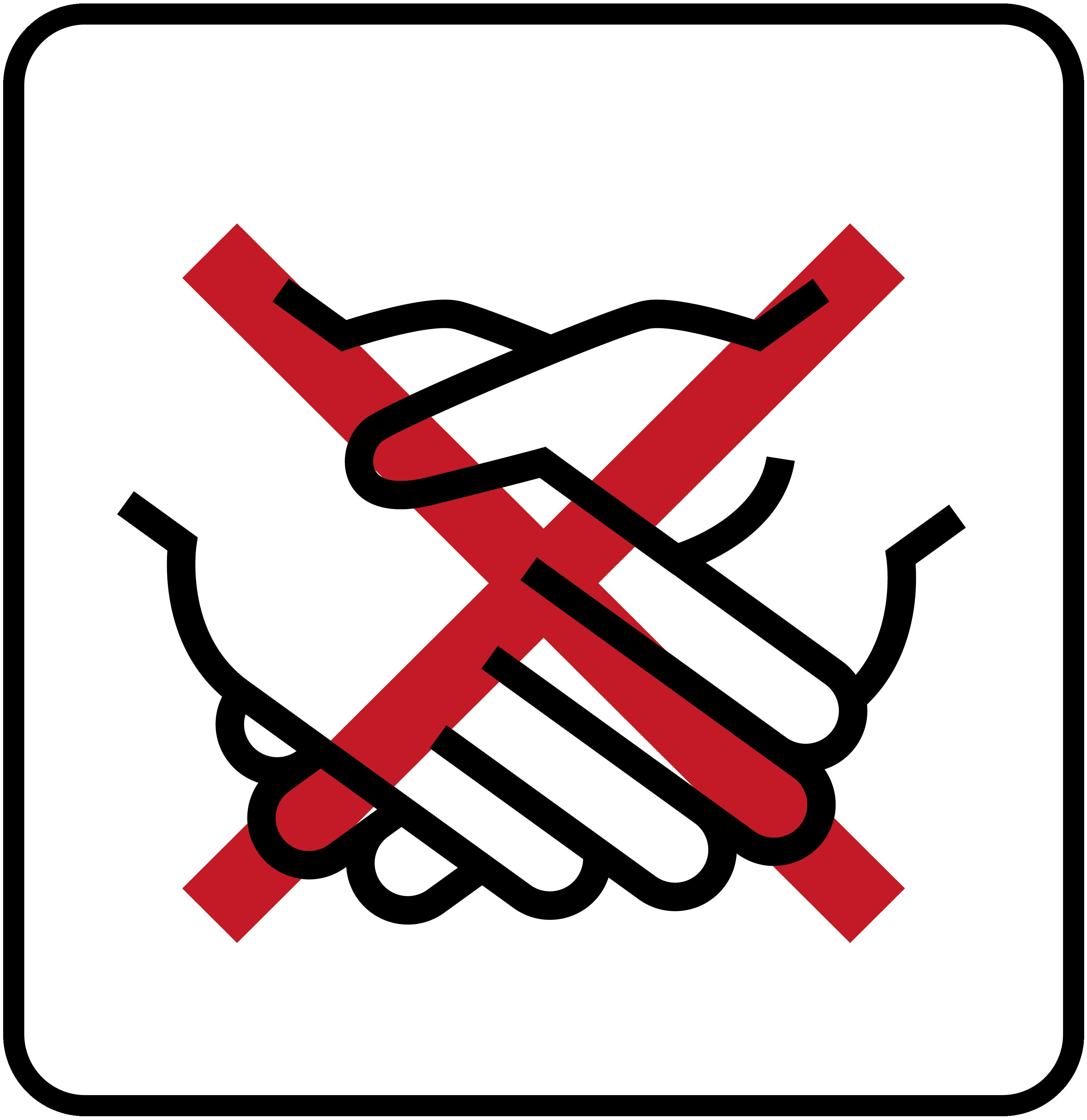 Verzicht auf Händeschütteln